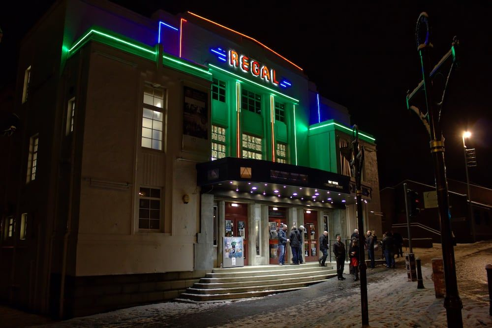 An image of the outside of the Bathgate Regal Community Theatre.